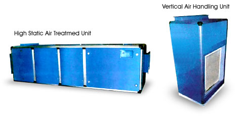 Air Handling Units : High Static Air Treatmed Uni and Vertical Air handling Unit